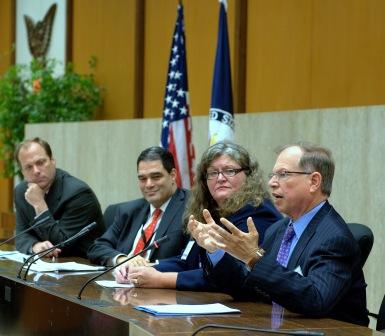 From right: Stanley S. Litow, IBM's Vice President of Corporate Citizenship & Corporate Affairs at an event hosted by the U.S. Department of State's Global Partnership Initiative and United States Agency for International Development.