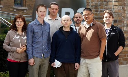 The author (third from left) and the Mapping Cancer Markers team