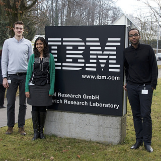 Oliver, Meenal and Abdigani at IBM Research - Zurich