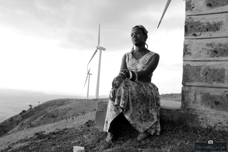 'Girl By the Windvane' - by Fredrick Leica, Kenya.