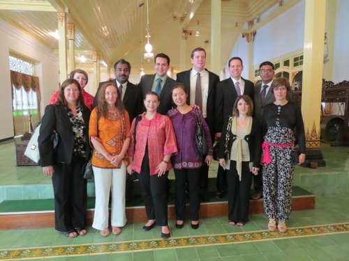 The author (back row, second from right) with the Corporate Service Corps / Indonesia team