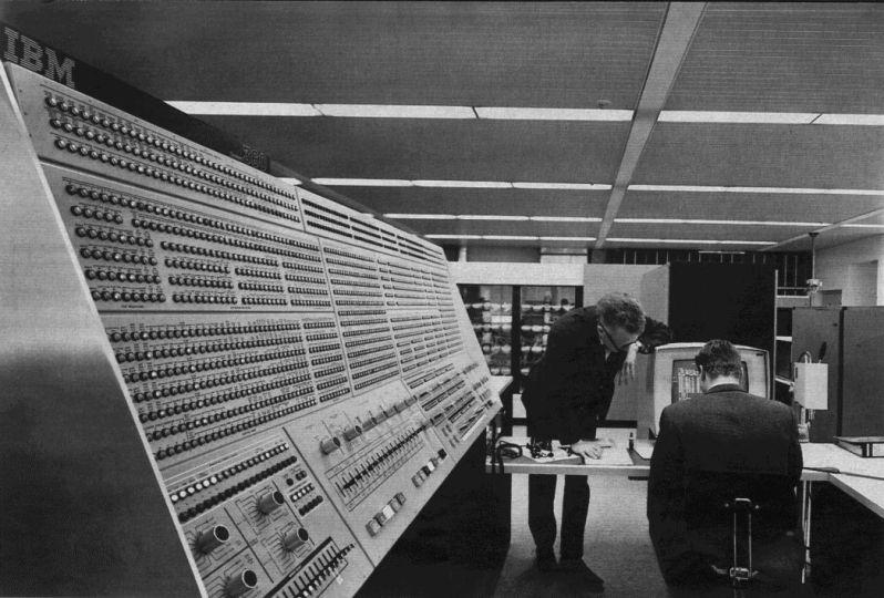 An IBM System/360 Model 91 at NASA's Goddard Space Flight Center in Maryland.