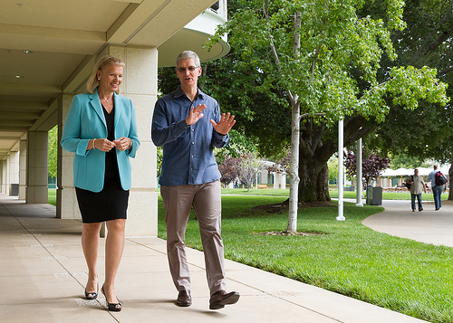 Ginni Rometty, IBM CEO, Tim Cook, Apple CEO